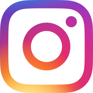 Instagram logo, a stylized icon of a camera with a multicolored gradient