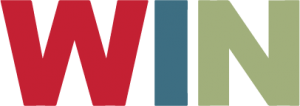 Wisconsin Involvement Network (WIN) logo, the WIN acronym in red, blue, and green